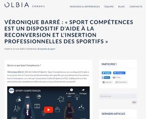 La lettre d'Olbia Le Blog communique sur le programme Sport Compétences